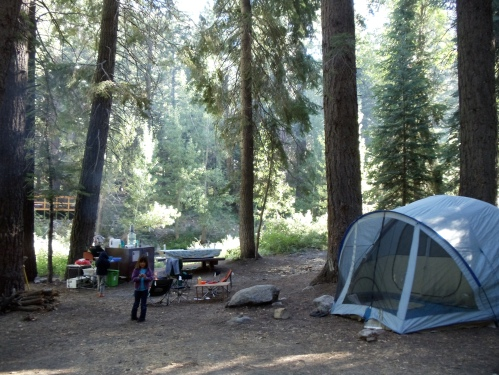 campsite at Cold Springs campground
