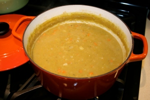 cooked split pea soup
